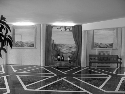 Entrance Hall of the Ornellaia Wine cellars